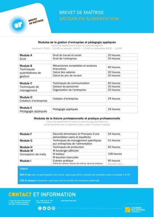 Fiche info - 150-00 - Artisan en Alimentation