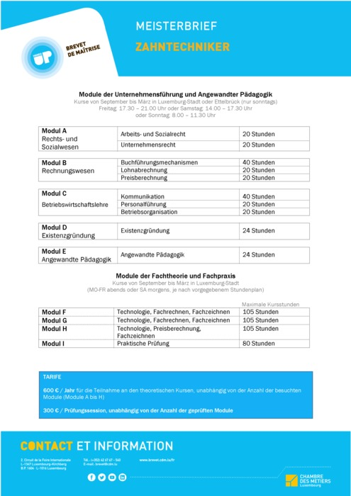 Infoblatt - 210-00 - Zahntechniker
