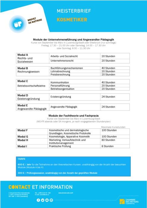 Infoblatt - 215-00 - Kosmetiker