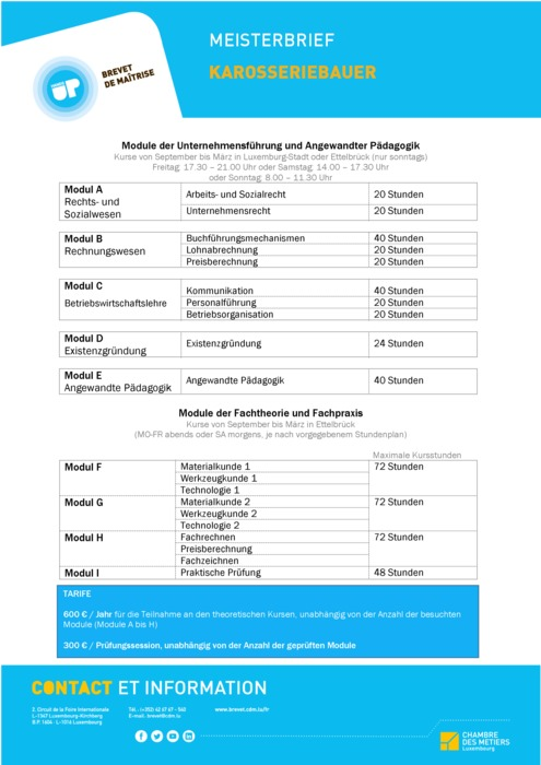 Infoblatt - 305-00 - Karosseriebauer