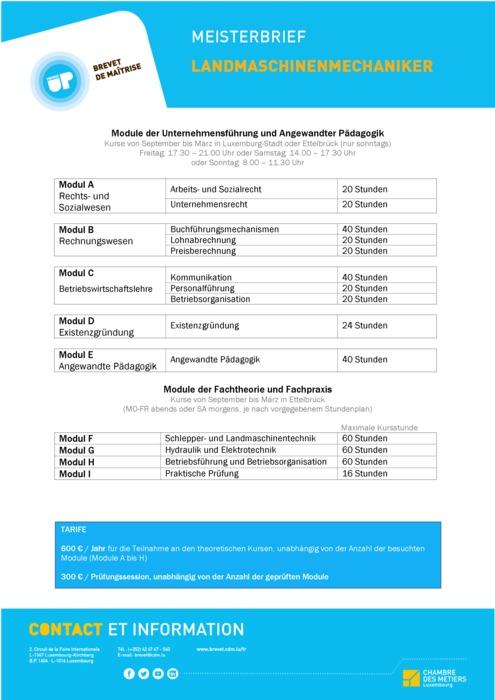 Infoblatt - 312-00 - Landmaschinenmechaniker