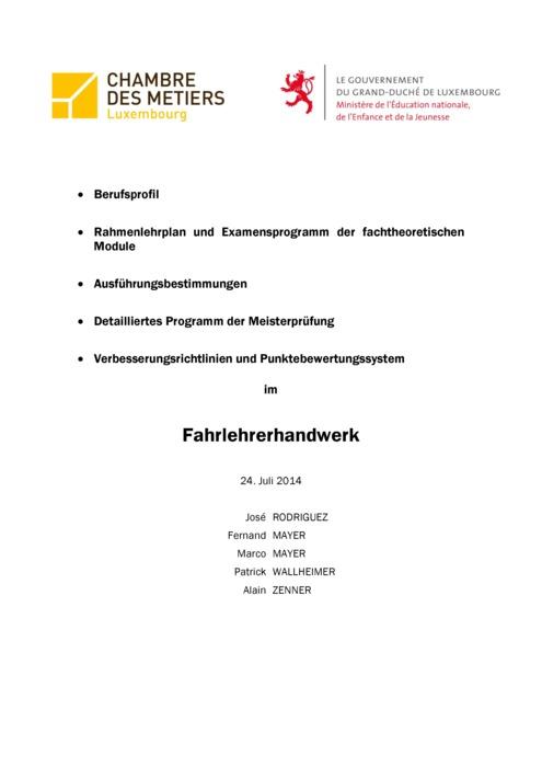 Rahmenlehrplan - 318-00 - Fahrlehrer