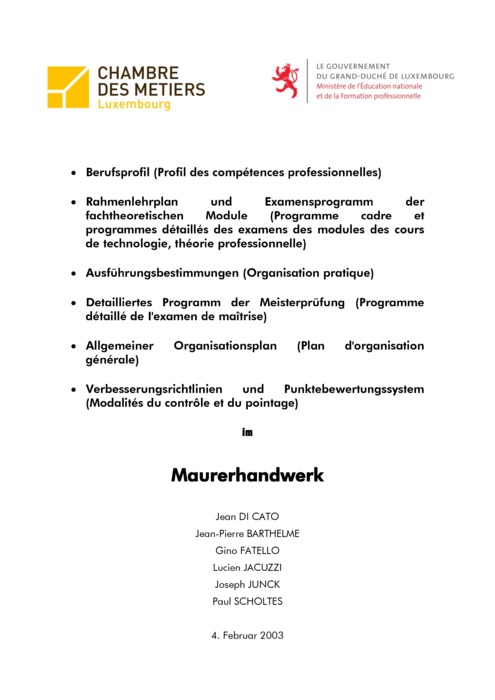 Rahmenlehrplan - 401-00 - Bauunternehmer