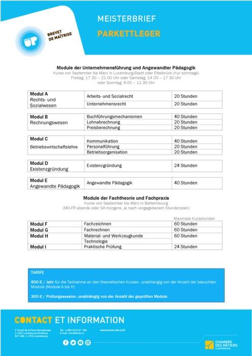 Infoblatt - 408-03 - Parkettleger