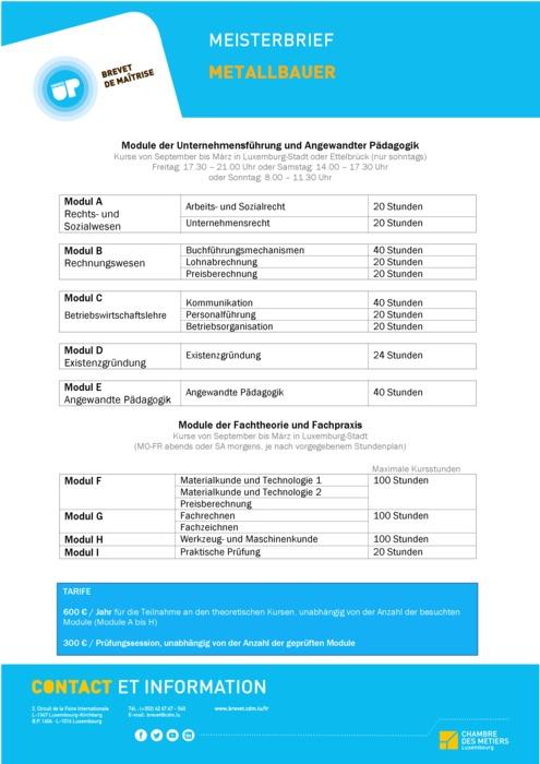 Infoblatt - 410-00 - Metallbauer