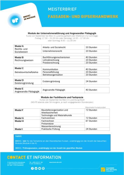 Infoblatt - 419-00 - Gipser- und Fassadenbauer