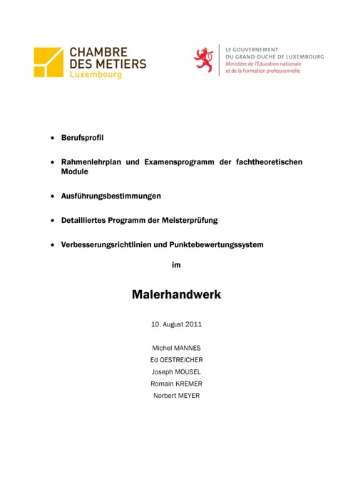 Rahmenlehrplan - 420-00 - Maler