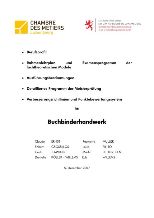 Rahmenlehrplan - 506-00 - Buchbinder