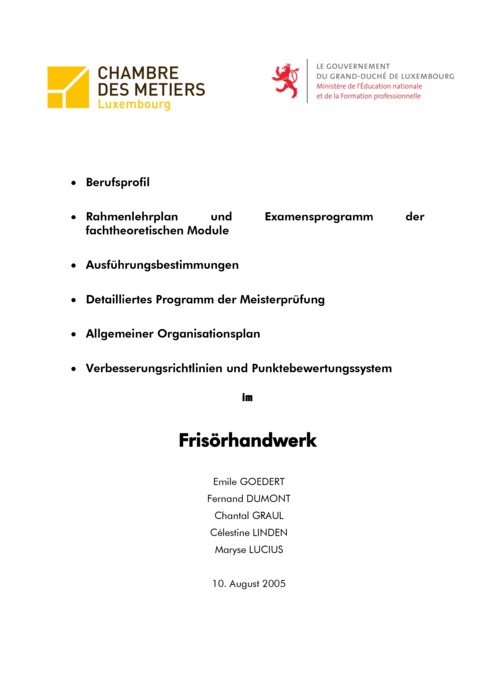 Rahmenlehrplan - 214-00 - Frisör